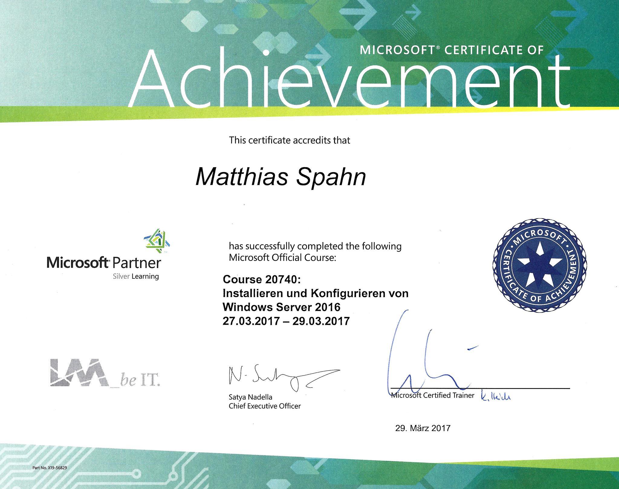 Microsoft Partner Matthias Spahn